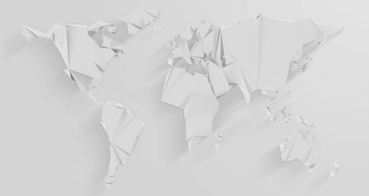 world map made of paper